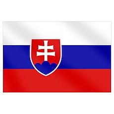 Slovenska Slovak flag Poster