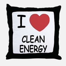 I heart clean energy Throw Pillow