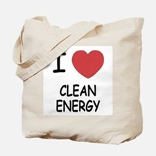 I heart clean energy Tote Bag