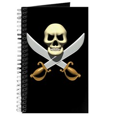 Pirate Skull and Swords Journal