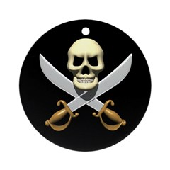 Pirate Skull and Swords Ornament (Round)