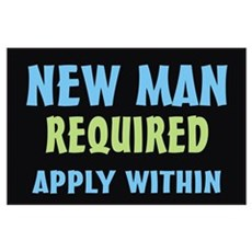 New Man required Poster