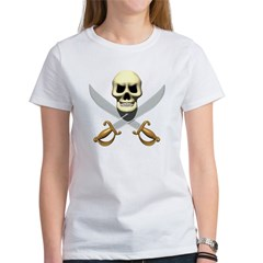 Pirate Skull and Swords Women's T-Shirt