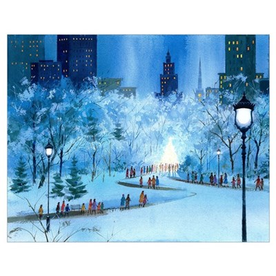 Central Park Winter Poster