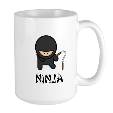 Ninja Nunchuck Large Mug