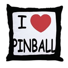 I heart pinball Throw Pillow