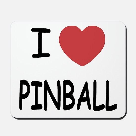 I heart pinball Mousepad
