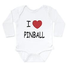I heart pinball Long Sleeve Infant Bodysuit