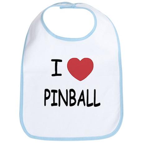 I heart pinball Bib