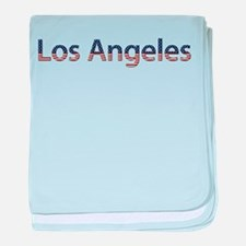 Los Angeles Stars and Stripes baby blanket
