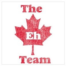 Vintage Team Eh Canvas Art