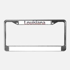 Louisiana Stars and Stripes License Plate Frame