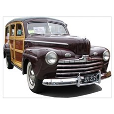 Helaine's Ford Woody Canvas Art