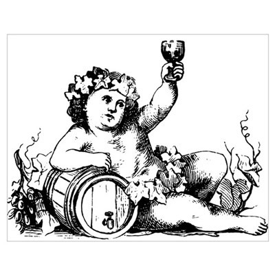 Cherub with Barrel Poster