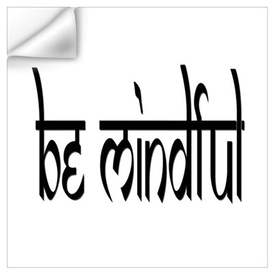 BE MINDFUL BLACK Wall Decal