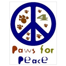 Paws for Peace Navy Poster