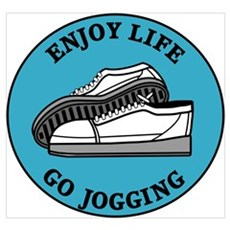 Enjoy Life Go Jogging Framed Print
