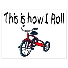 This Is How I Roll (Tricycle) Canvas Art