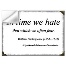 (No Fear - Shakespeare - B) Wall Decal