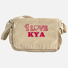 I Love Kya Messenger Bag