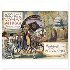 Woman Suffrage Procession Poster