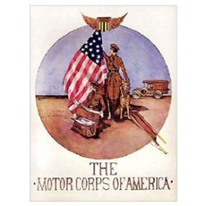 The Motor Corps of America Framed Print
