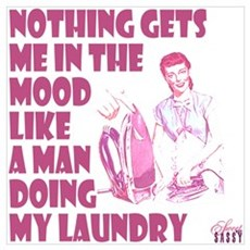 Man Doing Laundry Poster