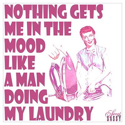 Man Doing Laundry Poster