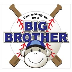Big Brother To Be Baseball Framed Print