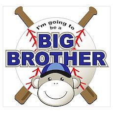 Big Brother To Be Baseball Poster