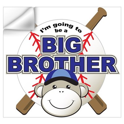 Big Brother To Be Baseball Wall Decal