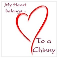 Chin Heart Belongs Framed Print