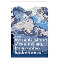 Micah 6:8 Poster