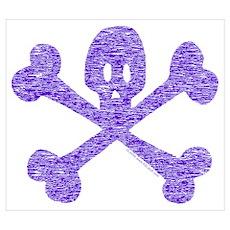 PurpleSkull&Crossbones Poster