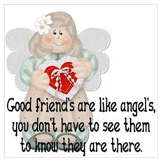 Good Friend's are like Angel' Canvas Art