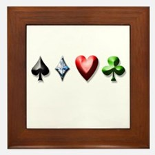 Playing Card Decal Framed Tile