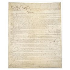 The Us Constitution Canvas Art
