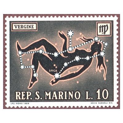 Virgo the Virgin Zodiac Poster