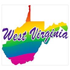 Gay Pride Rainbow West Virginia Poster