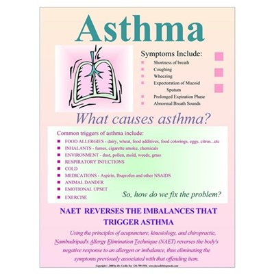 Small Asthma for NAET Canvas Art