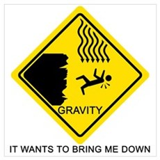 Gravity Yield Sign Poster