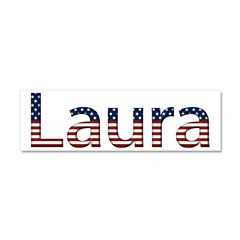Laura Stars and Stripes 10x3 Car Magnet
