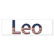 Leo Stars and Stripes Bumper Bumper Sticker