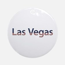 Las Vegas Stars and Stripes Round Ornament