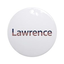 Lawrence Stars and Stripes Round Ornament