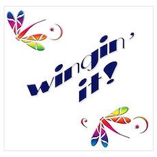 Wingin' It Dragonflies Poster