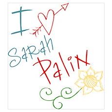 I love heart Sarah Palin Poster