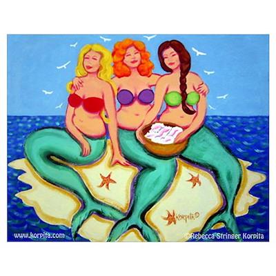 Mermaids Merbabes Poster