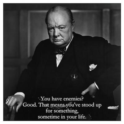 Churchill - sm. Poster