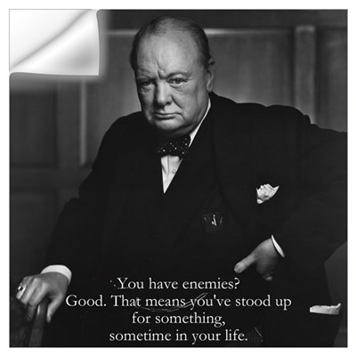 Churchill - sm. Wall Decal